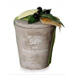 Le Chatelard 1802Salt & Herbs de Provence in cement pot 200g
